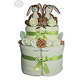 Unisex Twin Nappy Cake Baby Gift - Guess How Much I Love You
