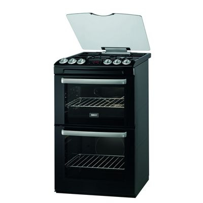 Zanussi ZCG552GNC 550mm Double Gas Cooker Gas Grill Black