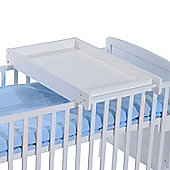 Homcom Wooden Cot Top Changer Baby Station 87Lx50Wx10H(cm) (White)