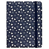 Trendz Navy Hearts 6-8 Inch Tablet Case