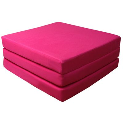 Ready Steady Bed Single Cotton Twill Fold Out Cube - Pink