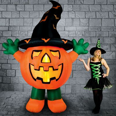 Light Up Inflatable Giant Pumpkin - 3m Halloween Prop