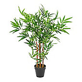 Homescapes Green 3ft Bamboo Tree Artificial Plant with Pot, 95 cm