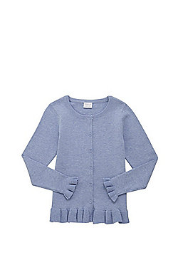 F&F Frill Hem Cardigan with As New Technology - Blue