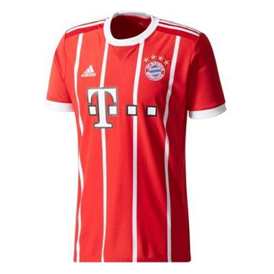 adidas FC Bayern Munich 2017/18 Mens Home Jersey Shirt Red - L