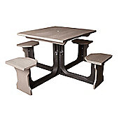 BrackenStyle Small Square Picnic Table - Grey