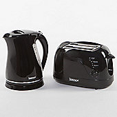 Igenix IGPK03 Breakfast Set Rapid Boil Kettle and 2 Slice Toaster - Black