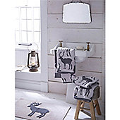 Catherine Lansfield Home Cosy Corner Swing Stag 1600gsm Bath Mat Grey