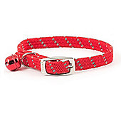 Ancol Acticat Softweave Reflective Cat Collar - Red