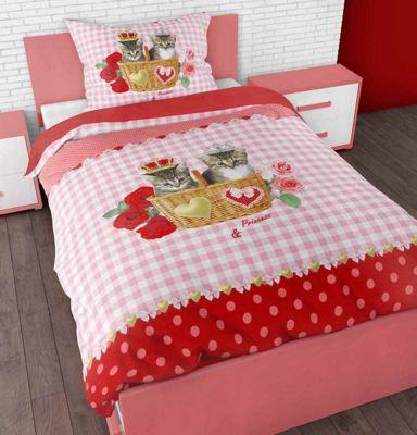 Sleep Time Kitties Love Duvet Cover Set For Kids - Multicoloured - Single 3ft