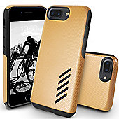 Orzly iPhone 7 Plus, iPhone 8 Plus Grip-Pro Case - Champagne Gold