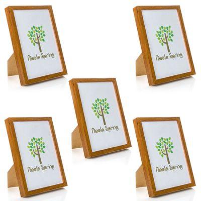 Nicola Spring Acrylic Box Photo Frame - Dark Wood - 8 x 12