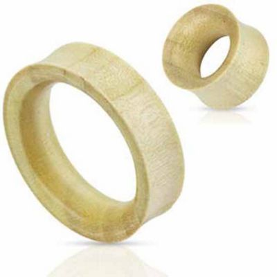 Urban Male Organic White Crocodile Wood Double Flared Flesh Tunnel 30mm