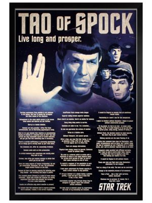 Star Trek Black Wooden Framed Tao Of Spock Poster 61x91.5cm