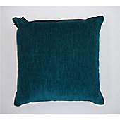 Rapport Plain Chenille Cushion Cover - Teal