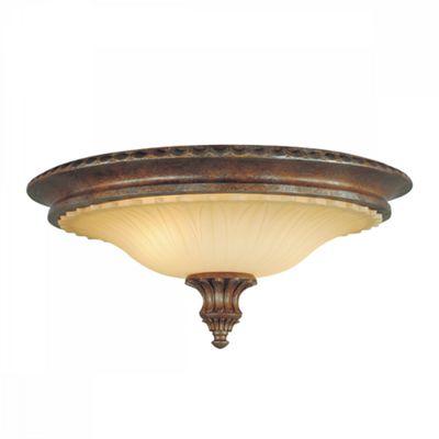 British Bronze 2lt Flush Mount - 2 x 60W E27