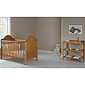 OBaby B is for Bear Cot Bed & Open Changer (Country Pine)