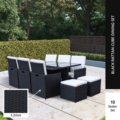 buy billyoh siena 10 seater cube outdoor rattan dining set. Black Bedroom Furniture Sets. Home Design Ideas
