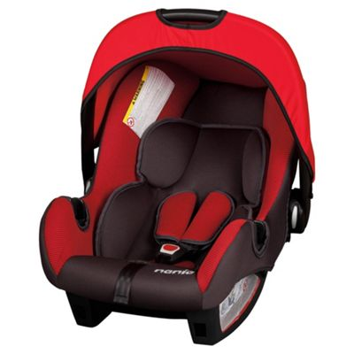Beone Volcano Car Seat, Group 0+,  Black/Red Nania