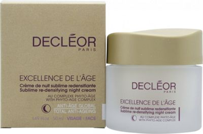 Decleor - Excellence De LAge Sublime Re-Densifying Night Cream -50ml/1.69oz Waterproof Silicone Electric Face Skin Cleaner Double Face Brush Washer Vibratory Scrubber, Silicone Face Cleaner, Face Massager