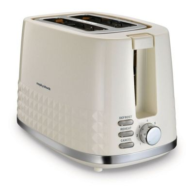 Morphy Richards-220022 Dimensions 2 Slice Toaster with 850W Power in Cream