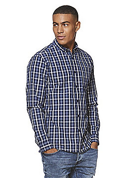 F&F Checked Shirt - Navy