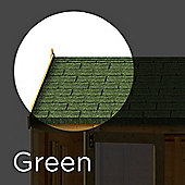 3 m² Green Asphalt Roof Felt Tiles Shingles for Sheds, Log Cabins & Summerhouses