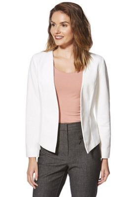 Only Ribbed Open Front Blazer Cream XS