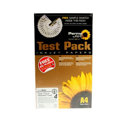 A4 PermaJet Textured Fine Art Paper Test Pack - 12 sheets