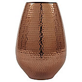Medium Hammered Metal Vase