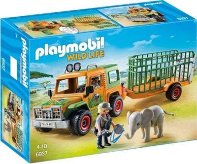 Playmobil 6937 Rangers truck with Elephant