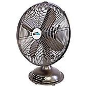 Lloytron F1025BH Stay Cool Metal Desk Fan, 12-Inch, 40 W