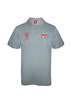 Liverpool FC Mens Polo Shirt - Grey