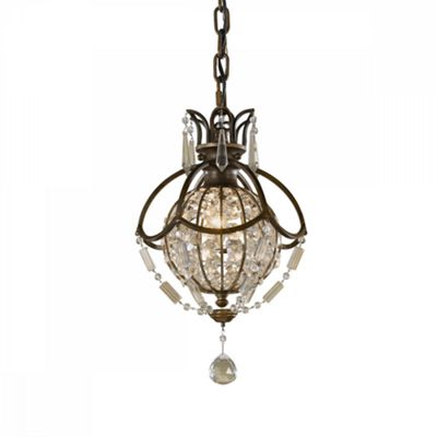 Oxidized Bronze/British Bronze Pendant Light - 1 x 60W E14