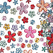 Self Adhesive Acrylic Flower Jewels (Pack of 180)