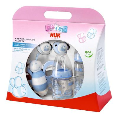NUK Rose & Blue Starter Set (Blue)