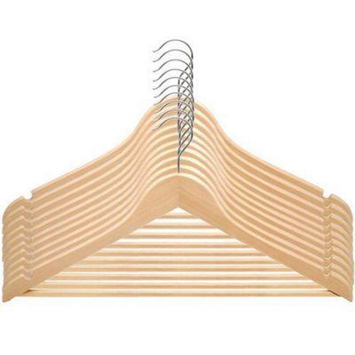 20 Pack Wooden Coat/Clothes Hangers