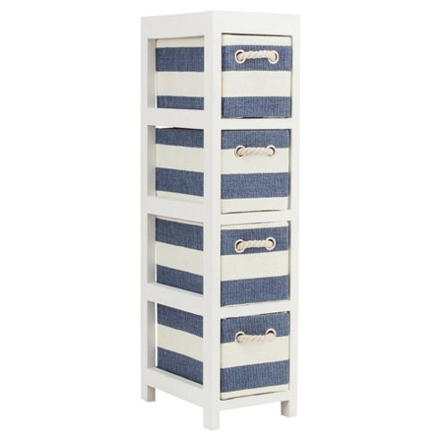 Nautical Canvas 4 Drawer Storage Unit