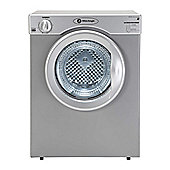 White Knight C37A Vented Tumble Dryer, 3, C Energy Rating, Silver