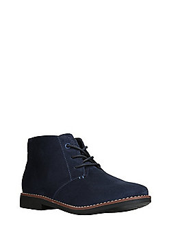 F&F Faux Suede Chukka Boots - Navy