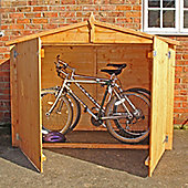Finewood Bike Store Shed 6x3 In Shiplap with Apex Roof and Double Doors