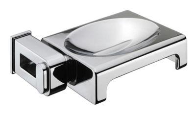 Sonia Nakar Metal Soap Dish in Chrome