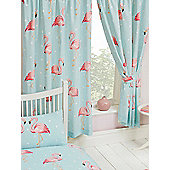 "Fifi Flamingo 54"" Lined Curtains"