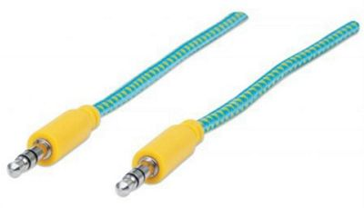 Manhattan 352789 1m 3.5mm Green Yellow audio cable