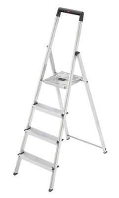 Hailo 259cm L25 Aluminium Safety Household Ladder