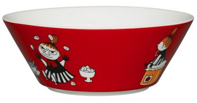 Arabia Iittala Ceramic Moomin 15cm Bowl Dish, Little My Red