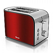 Swan 2 Slice Toaster - Red