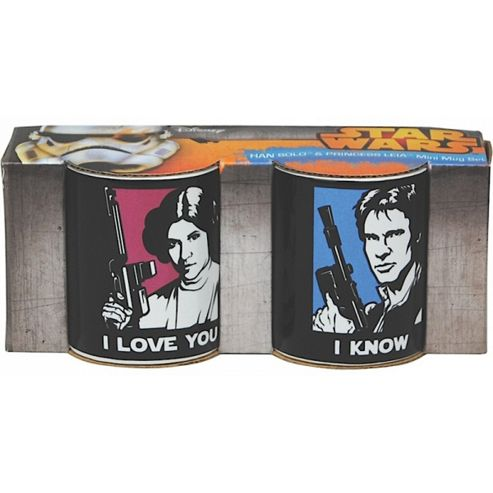 Star Wars Han Solo & Princess Leia Mini Mug Set 110ml (Boxed)