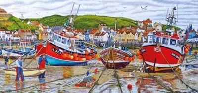 Seagulls at Staithes - 636pc Puzzle