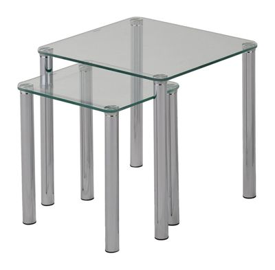 Alma Set of 2 Nesting Tables - Clear